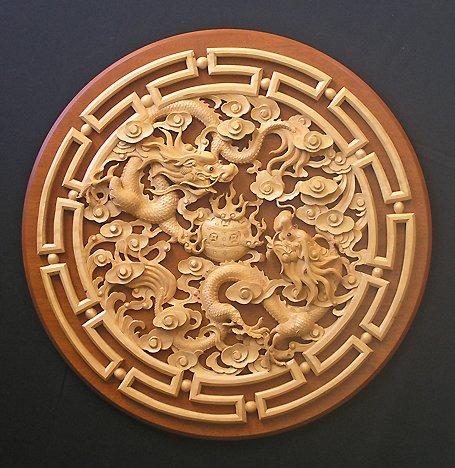 Custom Wood Carving Ornament
