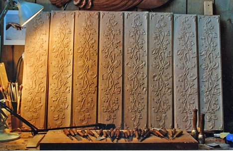 Custom Wood Carving Architectural Ornament