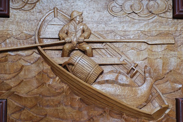 Architectural wood carving — ornament